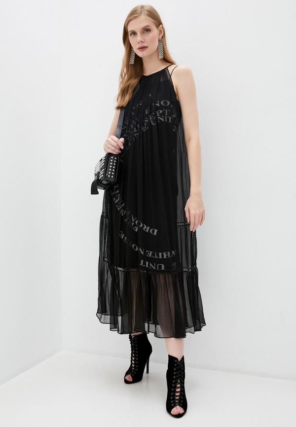 женское повседневные платье mcq alexander mcqueen, черное
