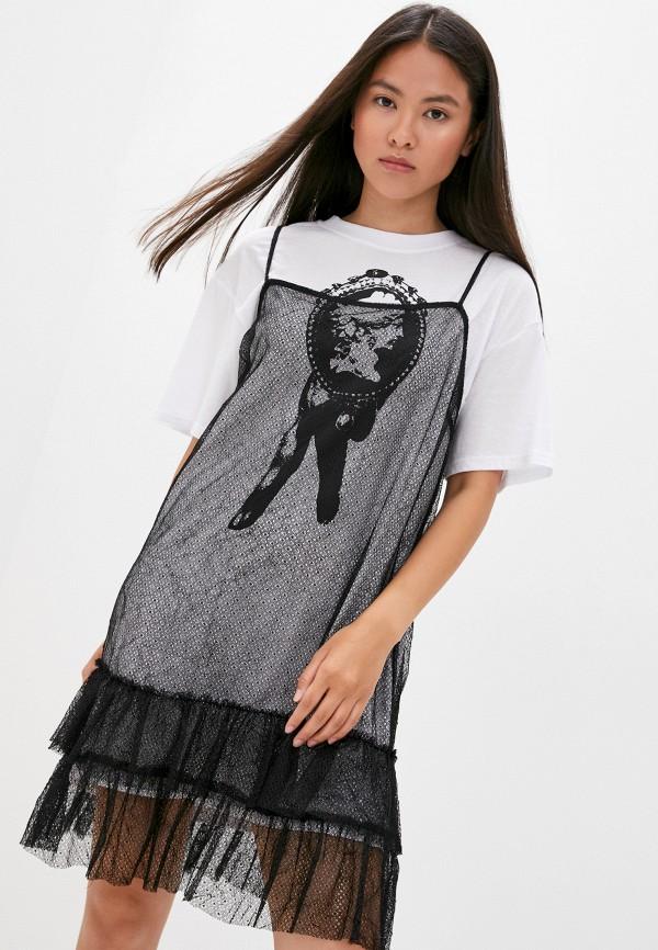 женское платье-футболки mcq alexander mcqueen, белое