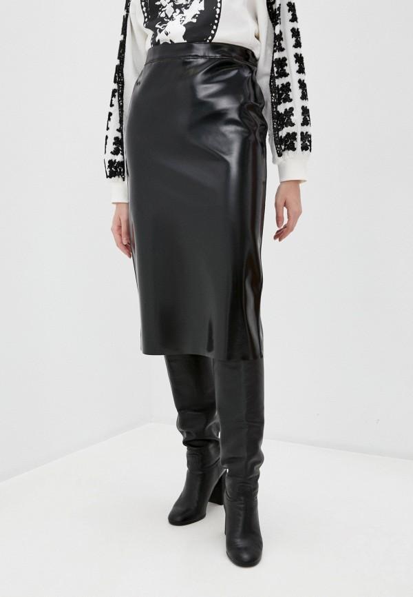 женская юбка mcq alexander mcqueen, черная