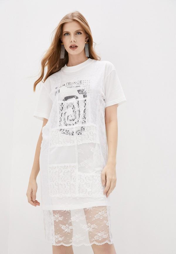 женское платье mcq alexander mcqueen, белое