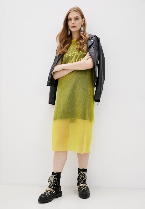 женское платье mcq alexander mcqueen, желтое
