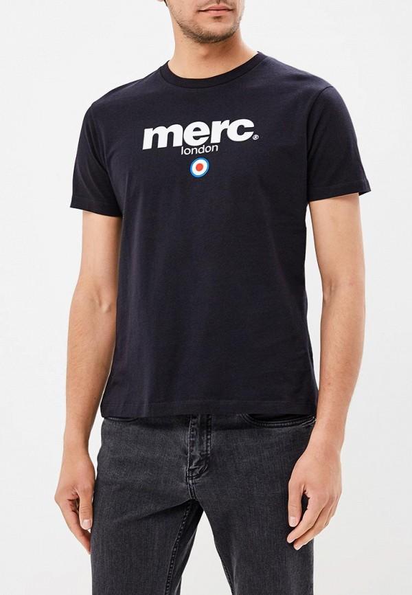 мужская футболка с коротким рукавом merc, черная