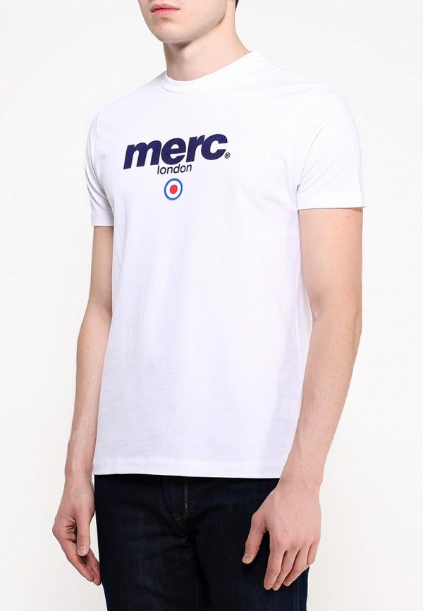 мужская футболка с коротким рукавом merc, белая