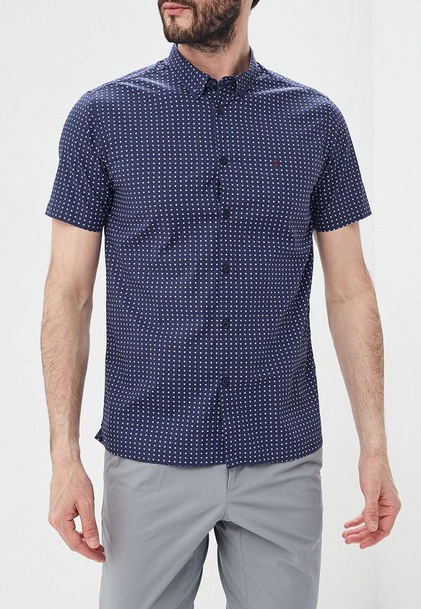 мужская рубашка с коротким рукавом merc, синяя