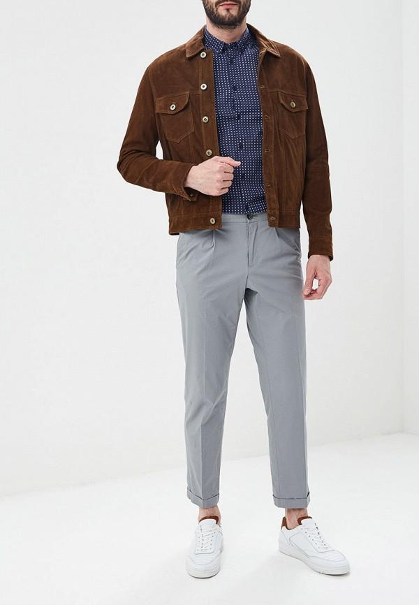 Фото 2 - мужскую рубашку Merc синего цвета