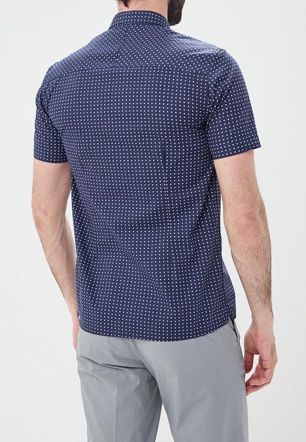 Фото 3 - мужскую рубашку Merc синего цвета