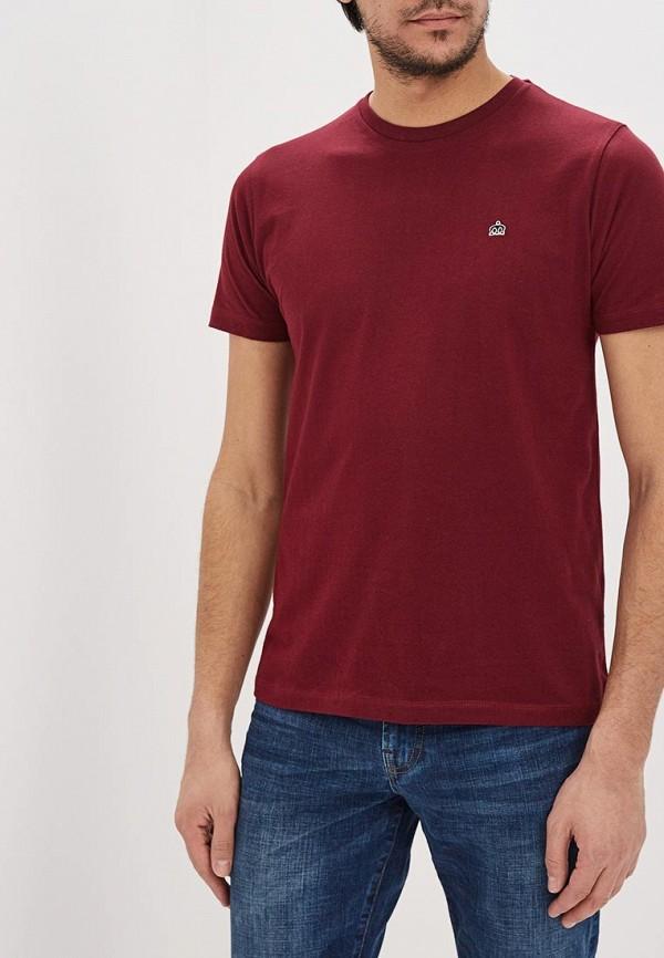 мужская футболка с коротким рукавом merc, бордовая