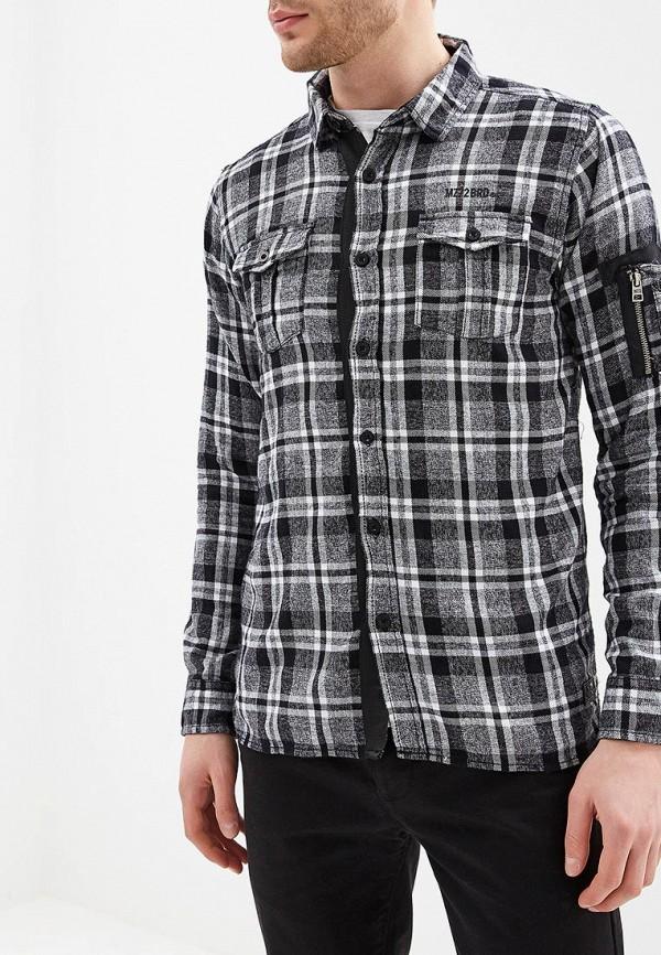 мужская рубашка с длинным рукавом mezaguz, серая