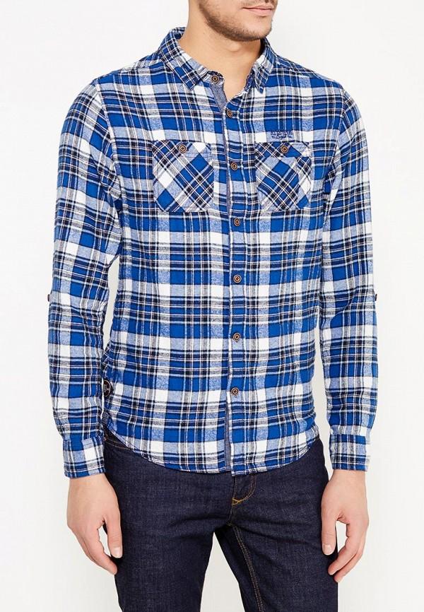 мужская рубашка с длинным рукавом mezaguz, синяя