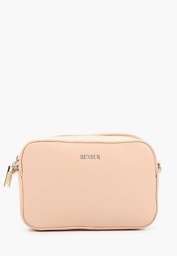 женская сумка menbur, розовая
