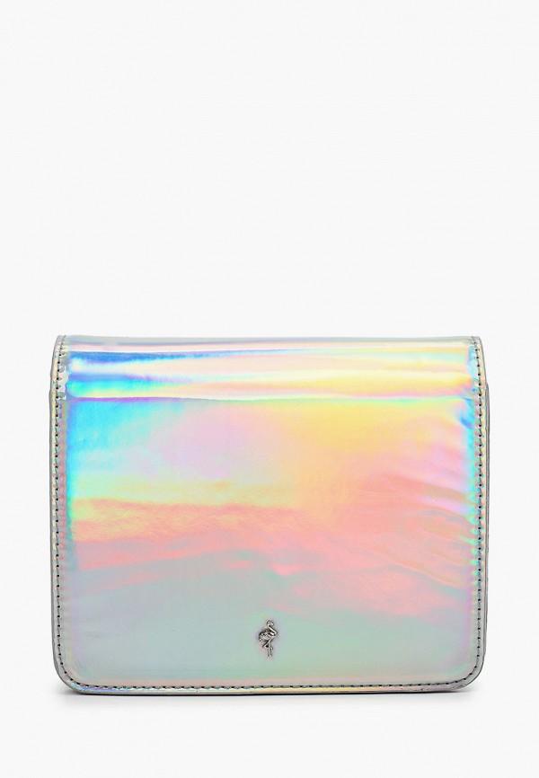 женская сумка menbur, серебряная