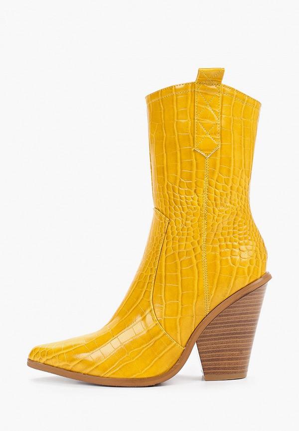 женские полусапожки mellisa, желтые