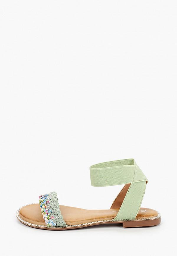 женские сандалии mellisa, зеленые
