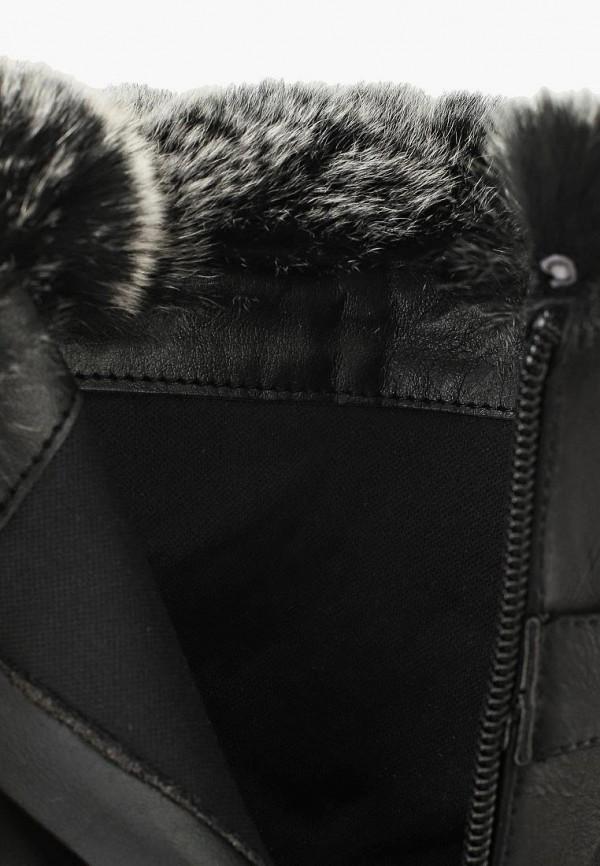 Фото 5 - женские полусапоги Mellisa черного цвета