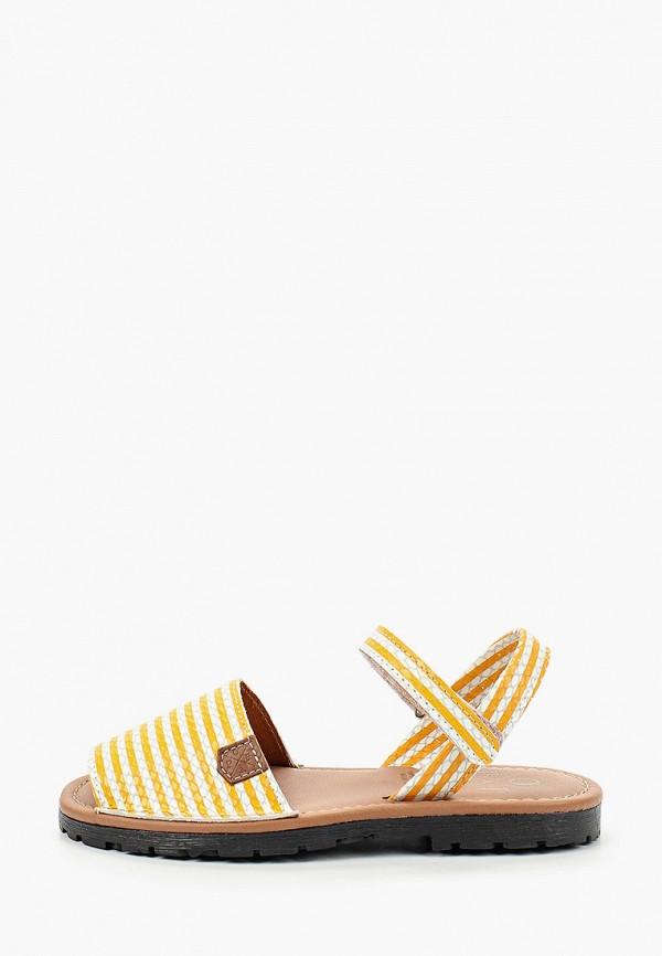 сандалии menorquinas popa для девочки, желтые