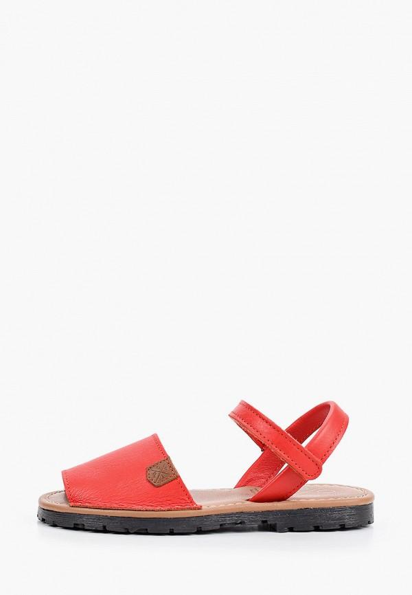 сандалии menorquinas popa для девочки, красные