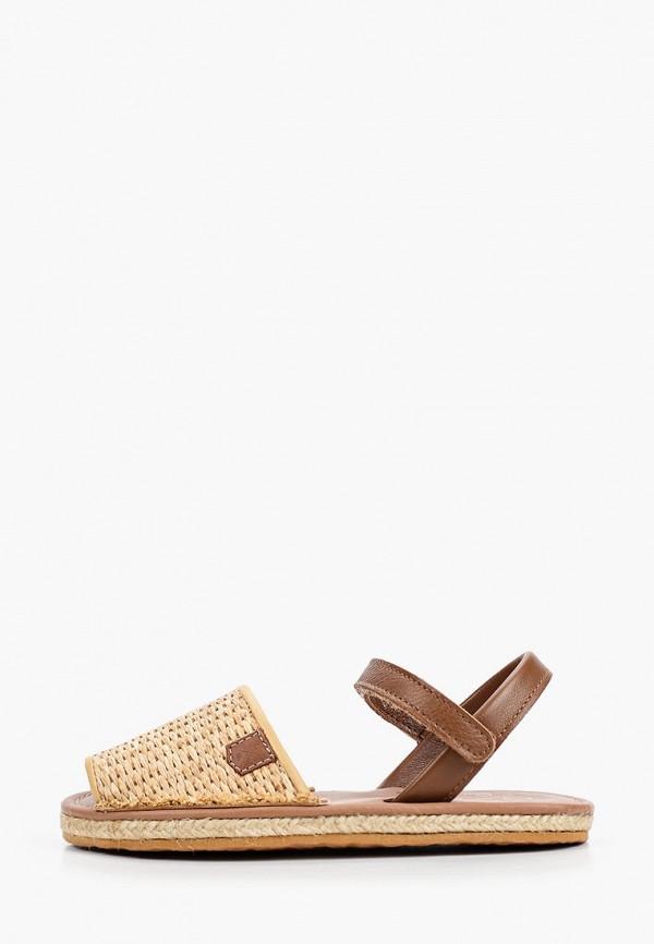сандалии menorquinas popa для девочки, коричневые