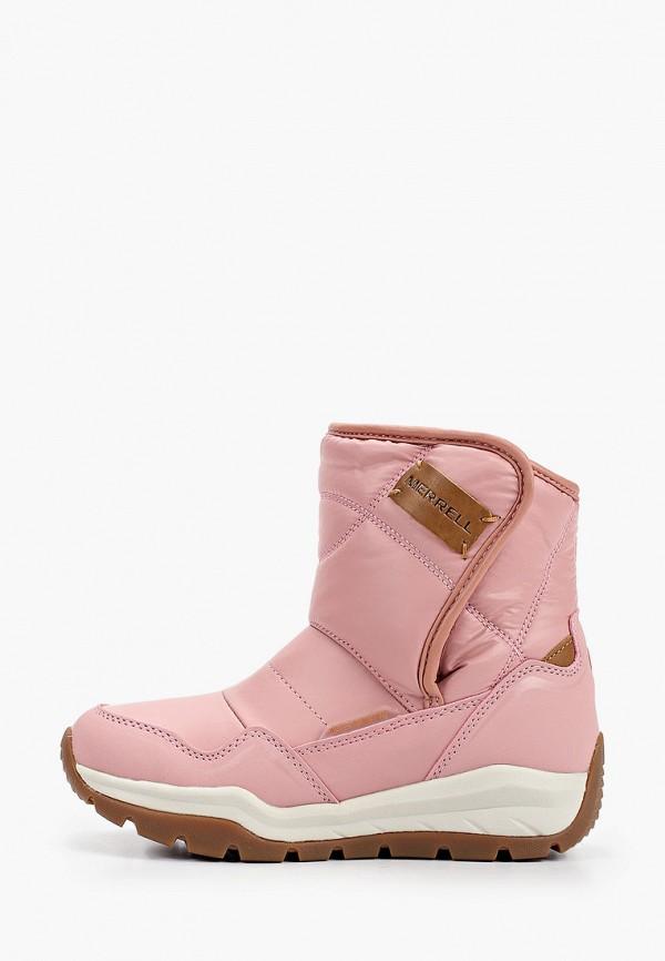 дутики merrell для девочки, розовые