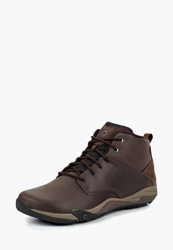 мужские высокие ботинки merrell, коричневые