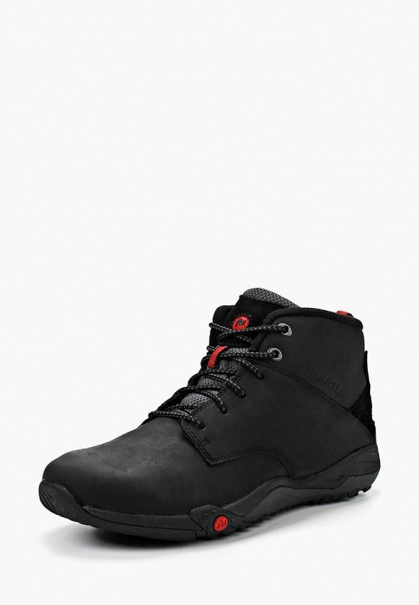мужские высокие ботинки merrell, черные