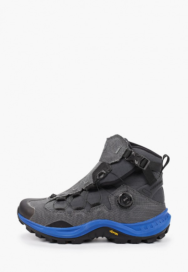 мужские высокие ботинки merrell, серые