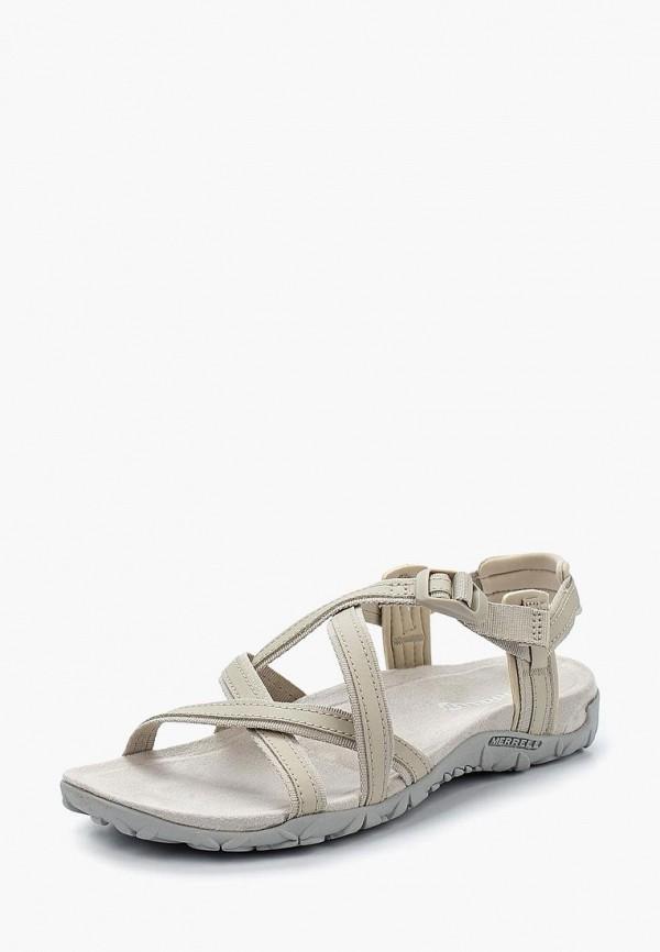 женские сандалии merrell, бежевые