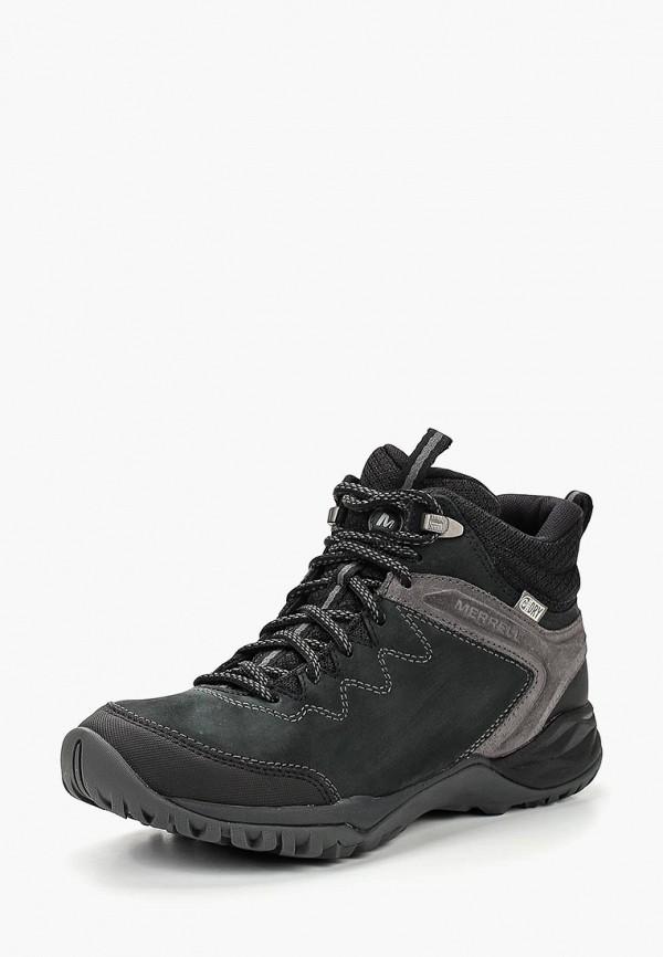 Купить Ботинки трекинговые Merrell, SIREN TRAVELLER Q2 MID WP, ME215AWCPSN5, черный, Осень-зима 2018/2019