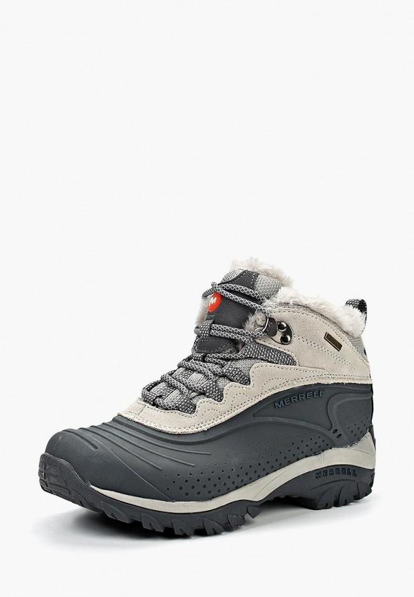 женские высокие ботинки merrell, серые