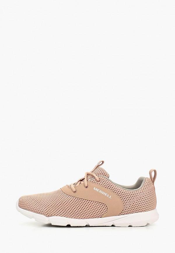 женские низкие кроссовки merrell, розовые