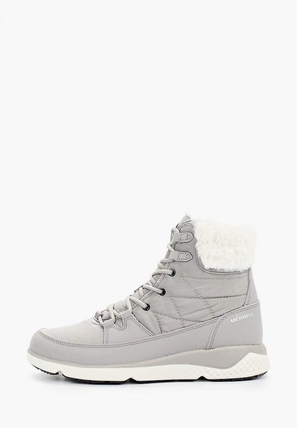 женские ботинки merrell, серые