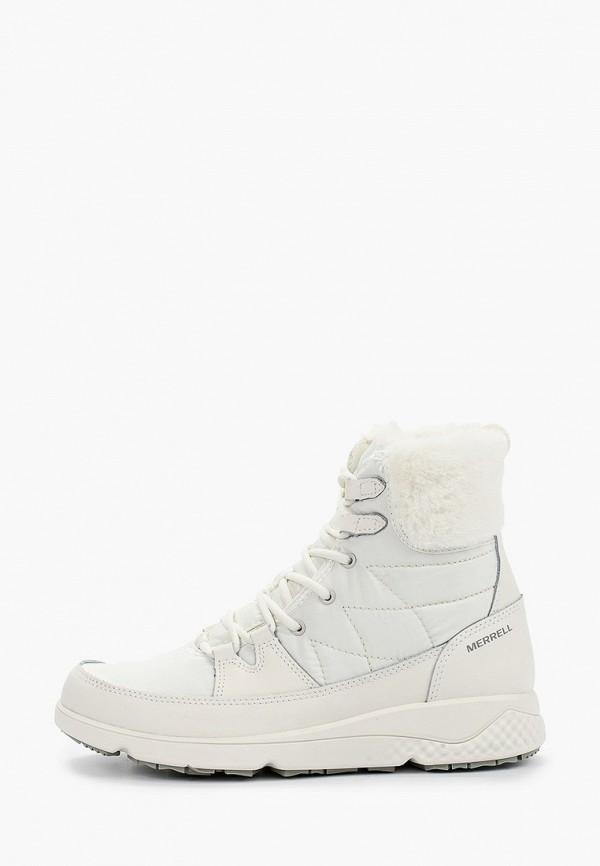 женские высокие ботинки merrell, белые