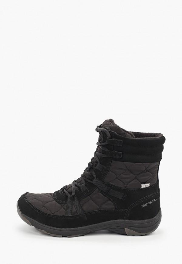 женские высокие ботинки merrell, черные
