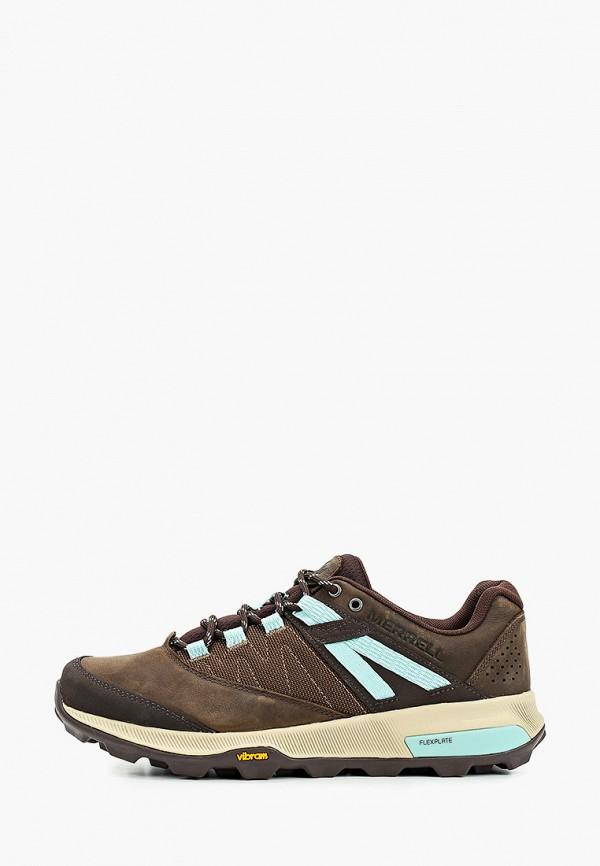женские низкие кроссовки merrell, коричневые