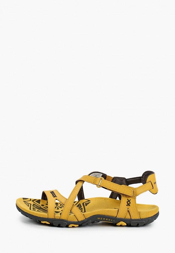 женские сандалии merrell, желтые