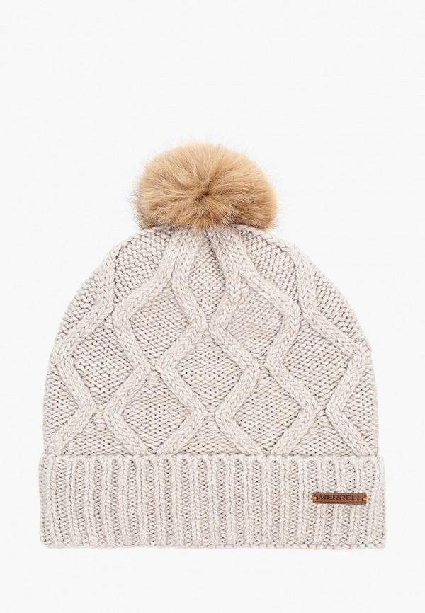 женская шапка merrell, бежевая