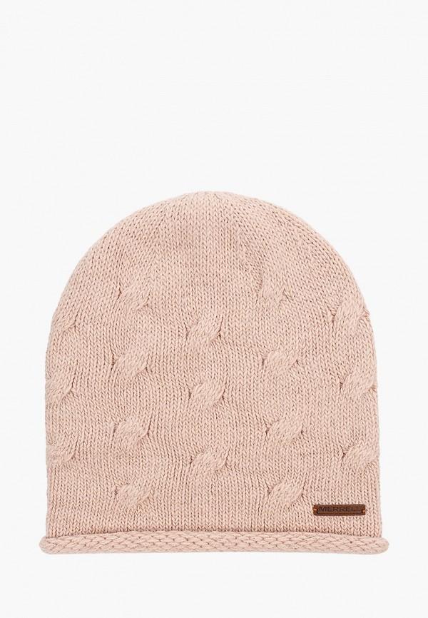 женская шапка merrell, розовая