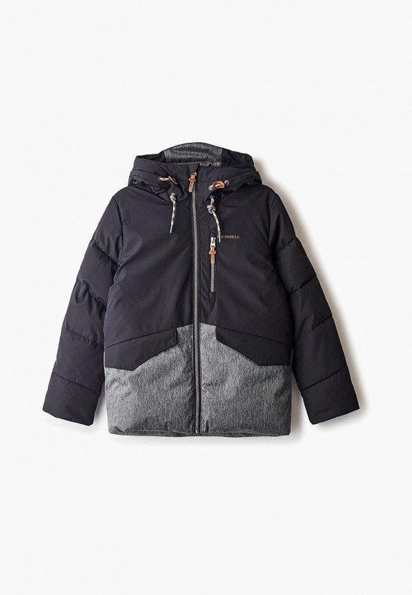 утепленные куртка merrell для мальчика, черная