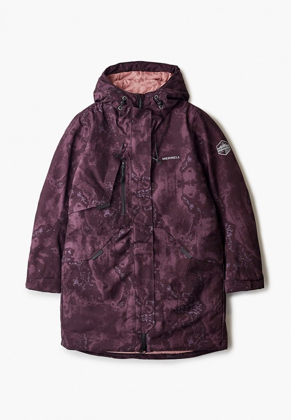 утепленные куртка merrell для девочки, бордовая