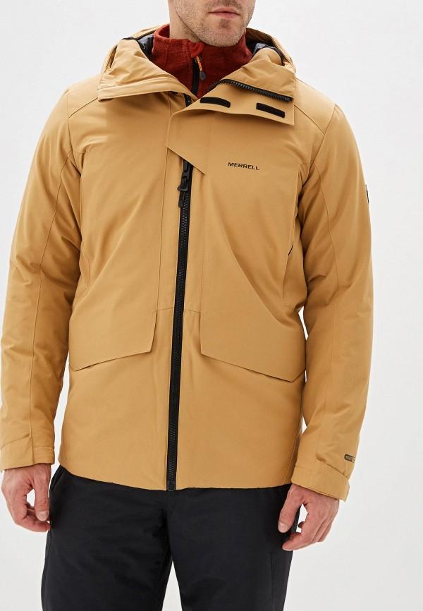 мужская куртка merrell, коричневая