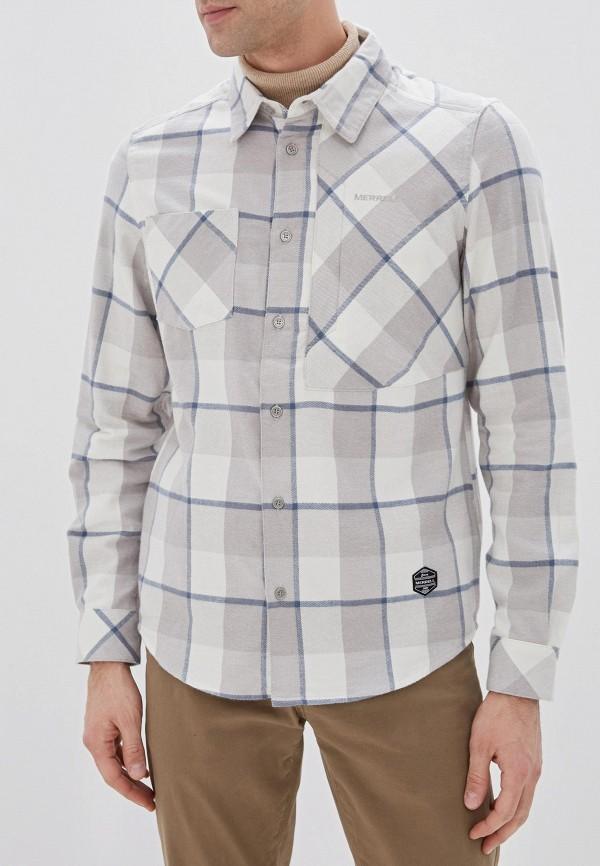 мужская рубашка с длинным рукавом merrell, серая