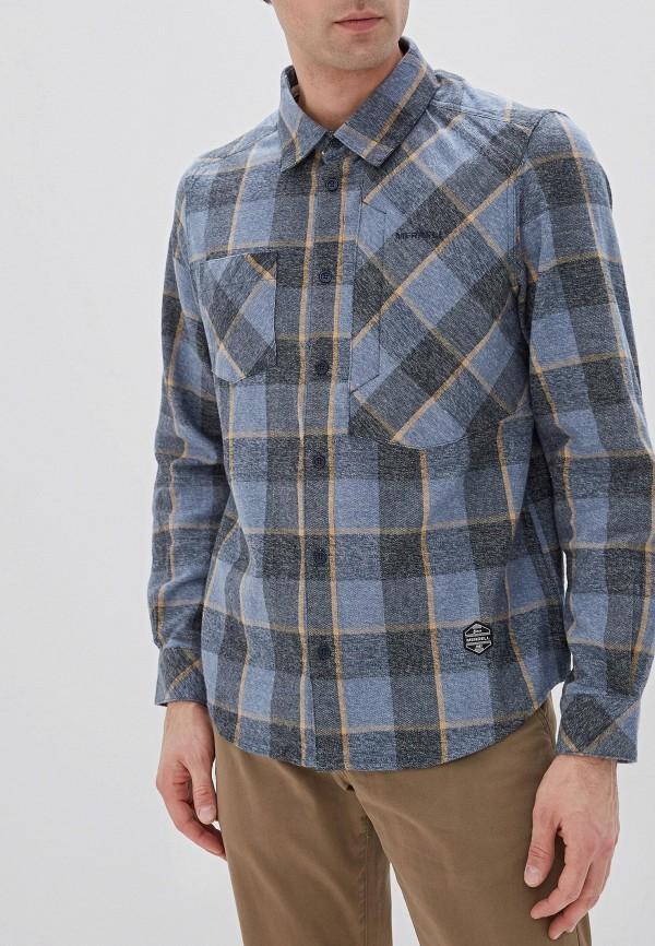 мужская рубашка с длинным рукавом merrell, голубая