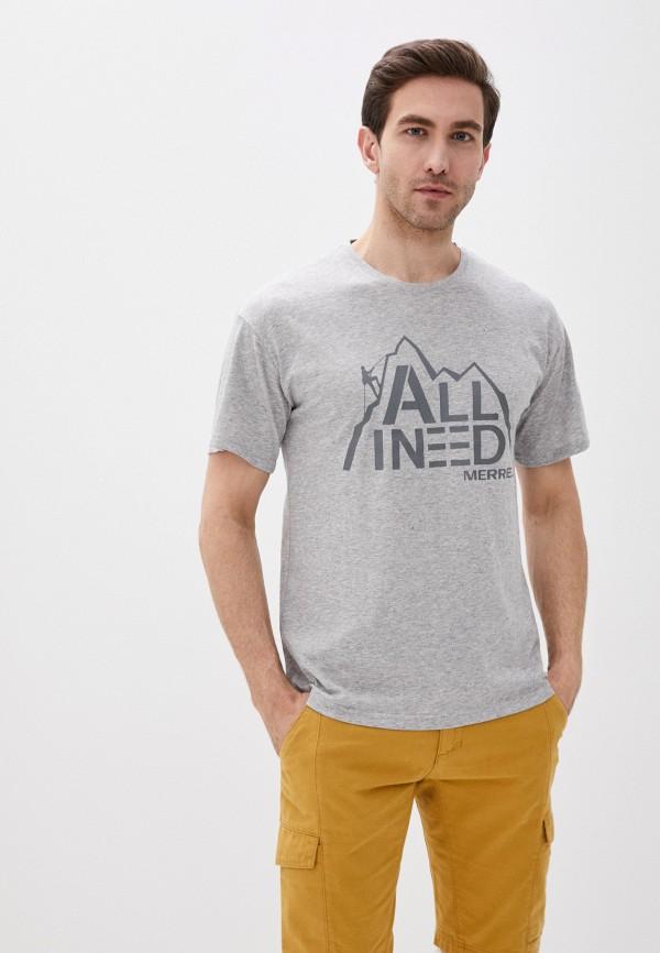 мужская спортивные футболка merrell, серая