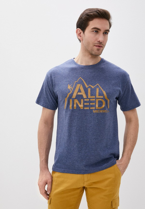 мужская футболка с коротким рукавом merrell, синяя