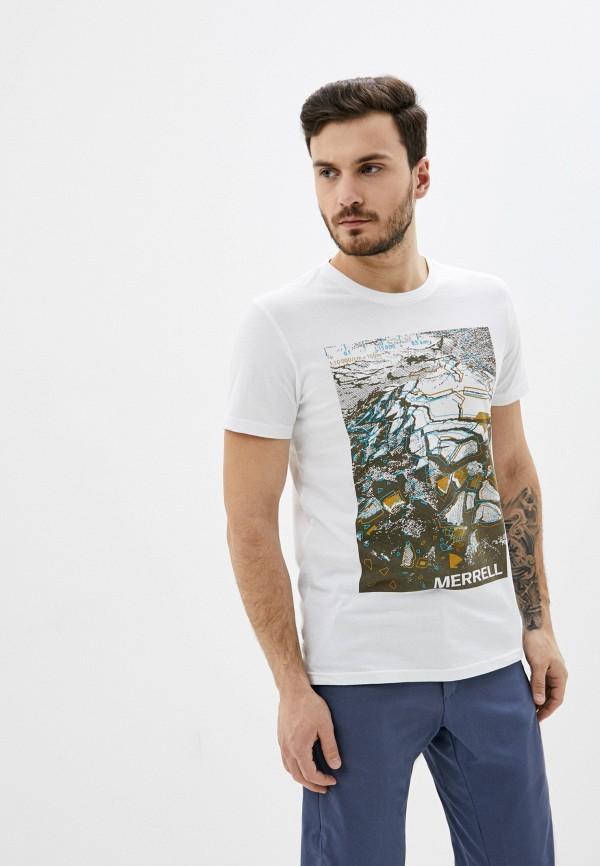 мужская спортивные футболка merrell, белая
