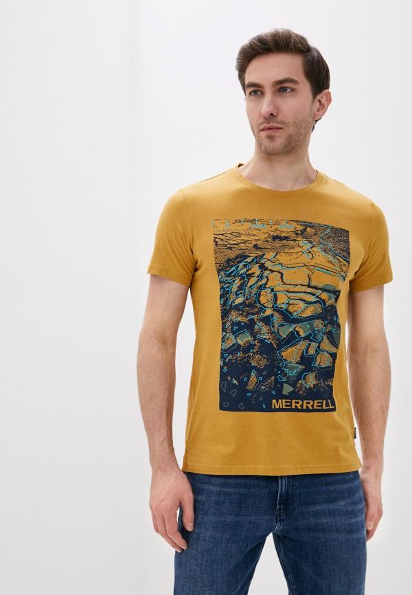 мужская спортивные футболка merrell, желтая