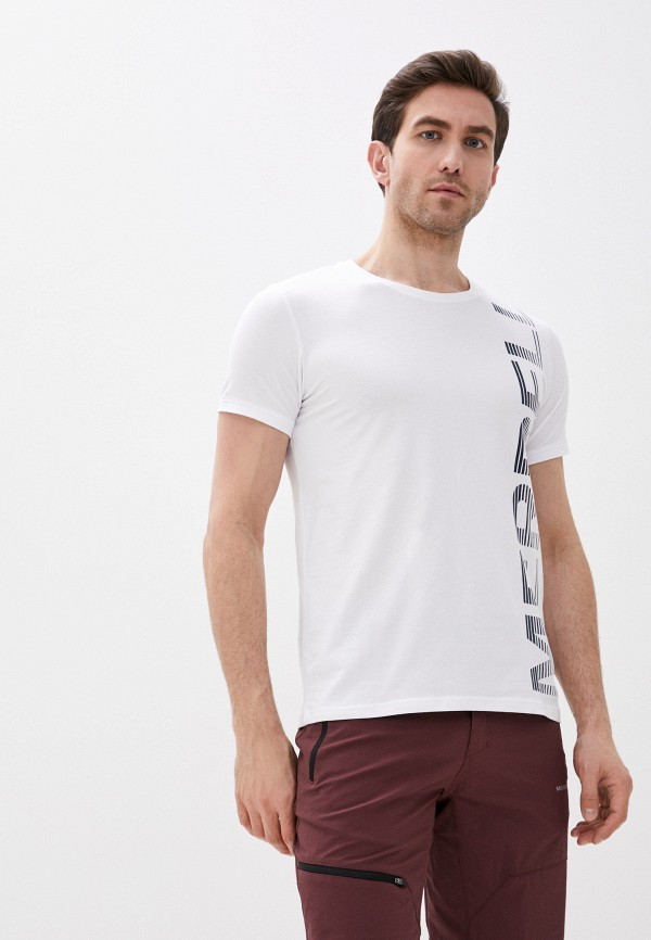 мужская футболка с коротким рукавом merrell, белая
