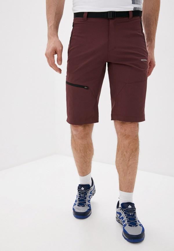 мужские шорты merrell, бордовые