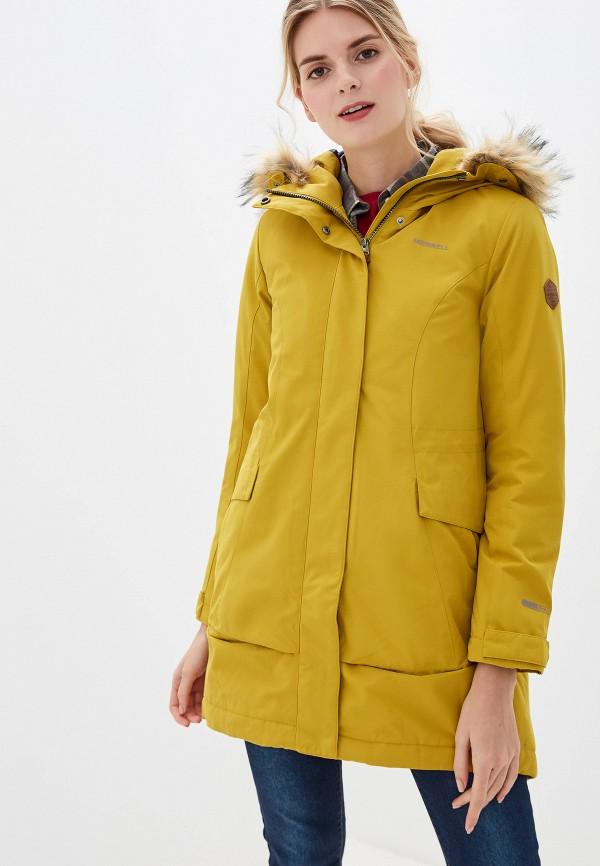 женская куртка merrell, желтая