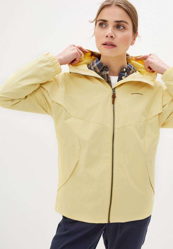 женская ветровка merrell, желтая