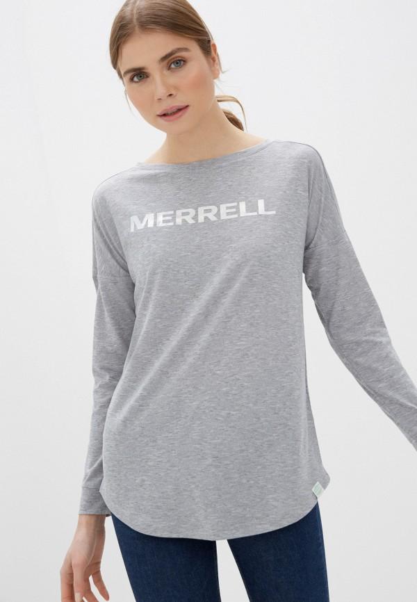 женский лонгслив merrell, серый